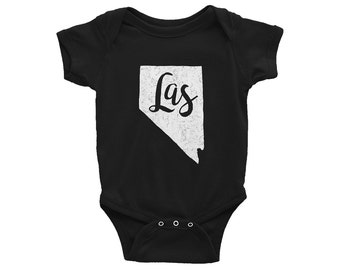 Las Vegas One-Piece // Nevada Bodysuit // LAS // Gender Neutral // Baby Shower Gift // Vegas Baby Outfit // Infant Gift // The Busy Bee
