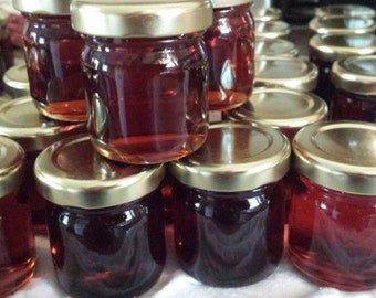15 New York state pure maple syrup undecorated 1.5 ounce glass jar