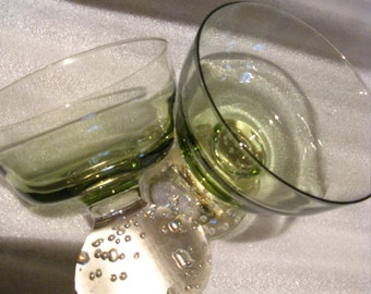 Two Carl Erickson vintage glassware