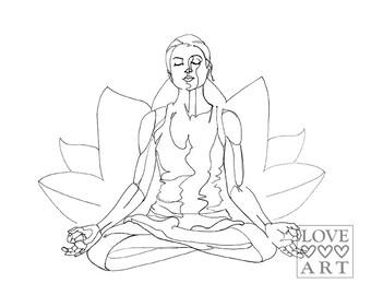 Yoga art print: Lotus Pose