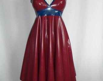 Latex summer dress