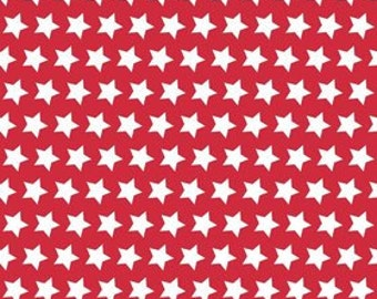 Stars - Red - Riley Blake (C315-80) Cotton Fabric Yardage