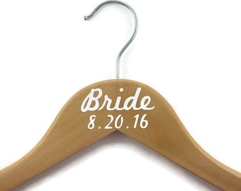 Bride Hanger Wedding Hanger Personalized / Wedding Hanger with Date / Wedding Hanger Bride Hanger with Date / Hanger for Bride