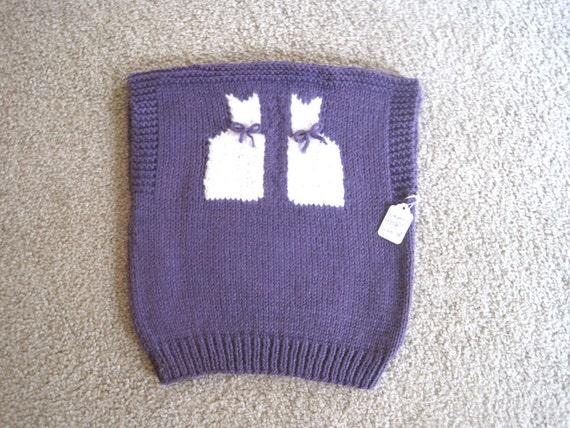 Knit Girl Sweater Vest Toddler Girl Purple Sweater Vest Size