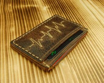 Men Leather money clip wallet money clip wallet mens