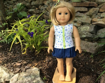 American Girl  Bubble Skirt and Top for similar 18 inch dolls