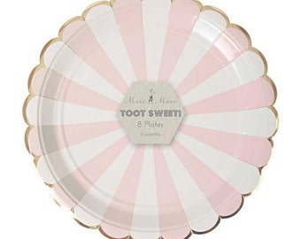 Meri Meri Dusty Pink Large Paper Plates (8) Toot Sweet Marshmallow Pink and White Stripe Party Plates Scalloped Gold Foil Edge  sc 1 st  Etsy Studio & La vie est belle (Life is beautiful) Print from ZLNdesign on Etsy Studio