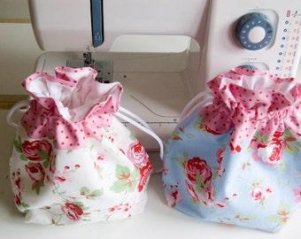 Pretty Handmade Gift/Toiletry/Wash/Drawstring Bag - Cath Kidston - Rosali - Ikea