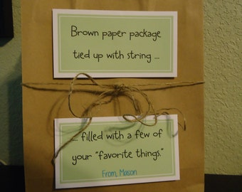 Custom 'BROWN Paper Bag' Kits - Teacher Appreciation!