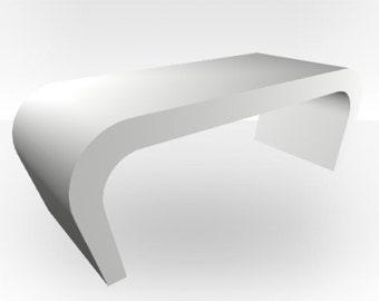 White Matt Coffee Table - Wedge