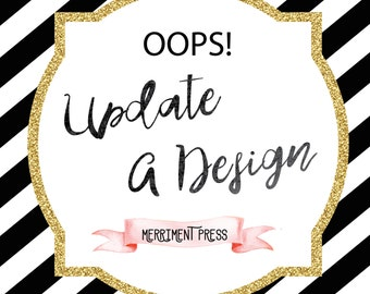 OOPS! Update or Fix a Completed Design by Merriment Press