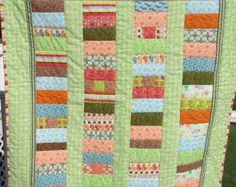 Flannel quilt | Etsy : stroller quilt size - Adamdwight.com