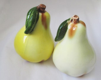 Vintage Yellow Pear Salt and Pepper Shakers