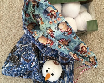 Indoor snowball fight 10 balls and storage bagl and one special snowman face ball