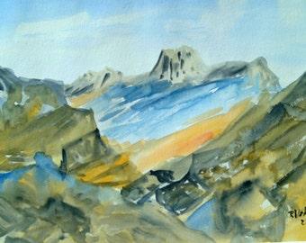 "Watercolor ""Before sunrise"""