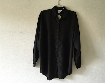 FREE SHIPPING - Vintage 1980s Button Up Blouse, Long Sleeve Blouse, Zodiac New Old Stock