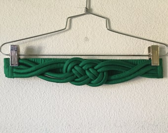 Vintage Belt - Silk Knotted Braided Celtic Knot