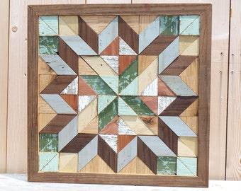 barn quilt block, salvaged wood barn quilt, quilt block, geometric wall art