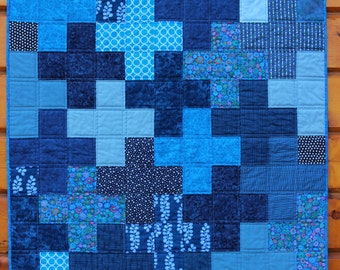 Items Similar To Pirate Baby Boy Quilt Blue Black Ship