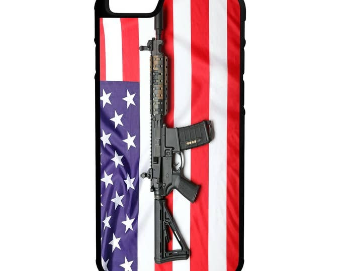 American Flag AR 15 iPhone Galaxy Note LG HTC Protective Hybrid Case
