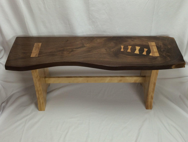 Walnut Slab Bench