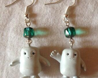 Dr Who adipose earrings