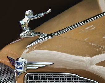 Car Photo, Classic Car, Hood Ornament, Gift for Dad, Antique Car, Old Cars, Buick, Gift for Car Lovers, Vintage Cars, 1935 Buick Victoria