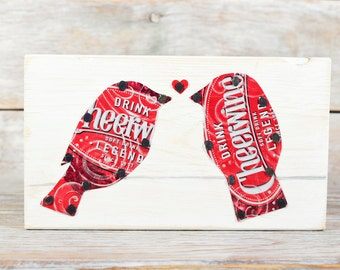 Love Birds on a Wire Cheerwine Soda Can Art