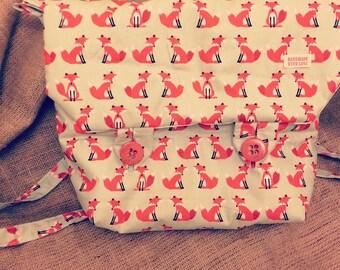 Foxy Print Messenger Bag