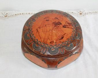 Wooden Trinket Box, Wooden keepsake Box, Wooden Box, Ring Box, Ring Holder, Dressing Table, French Vintage Box, Jewelry Box, Jewelry Storage