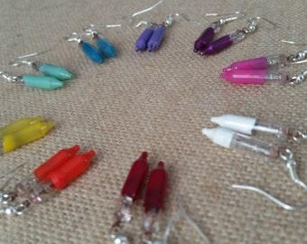 Re-Purposed Light Bulb Earrings