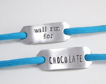 Shoe Tags - Running Accessories - Will Run For - Running Gifts - Marathon Gift - Workout Jewelry - Cross Country - Track And Field