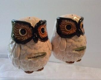 Otagiri Japan OMC Handpainted Owl Salt & Pepper Shakers