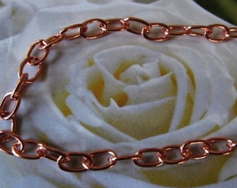 Solid Copper Chain CN627G - 3/16 of an inch wide. Available in 18 to 30 inches.