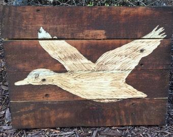 Duck Hunting Pallet Wood Art Sign Reclaimed Pallet Wood Art Sign