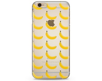 Banana iPhone Case, iPhone 6 plus case Transparent iPhone Case, iphone 6s case, iPhone 7 case, iPhone 6s plus  case