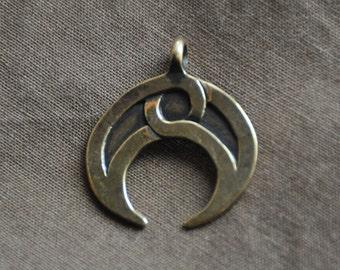 Russian bronze Lunula (Lunitsa) pendant