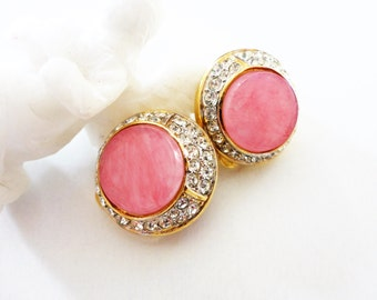Vintage Nina Ricci Rhinestone Clip On Earrings