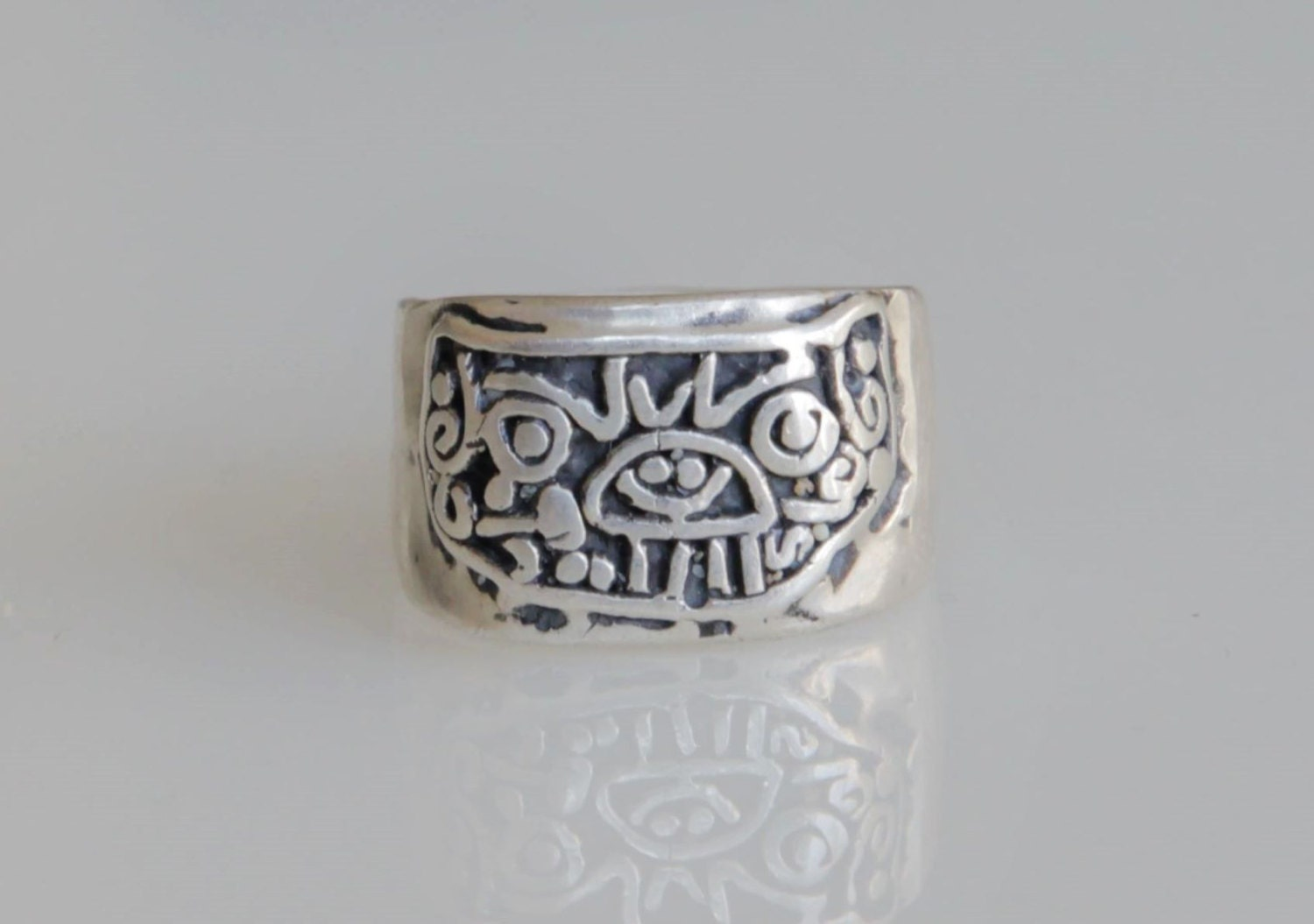jaguar ring mayan ring sterling silver 925 pirate ring