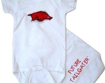 Arkansas Razorback Future Tailgater Baby Bodysuit