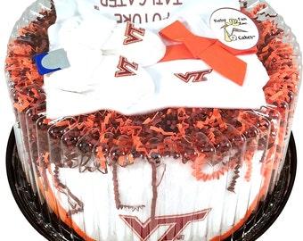 Virginia Tech Hokies Baby Fan Cake Newborn Clothing Gift Set