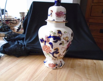vintage Masons Mandalay Lidded Temple Jar in excellent condition