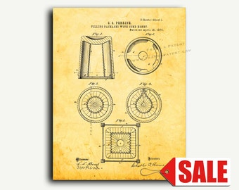 Patent Art - Filling Packages With Comb Honey Patent Wall Art Print