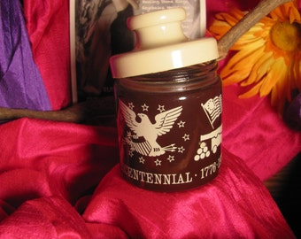 Vintage 1976 Indiana Glass Bicentennial Jar with Lid