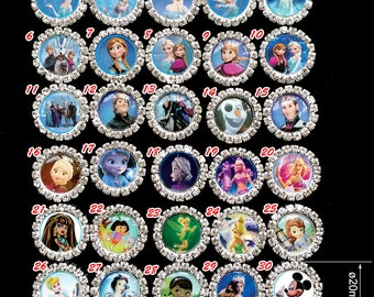 30% off! wholesale 500pcs/lot 20mm Frozen/Princess Crystal clear Cluster,flat back ,sparkly rhinestone buttons,Hair Bow Center  Making DIY