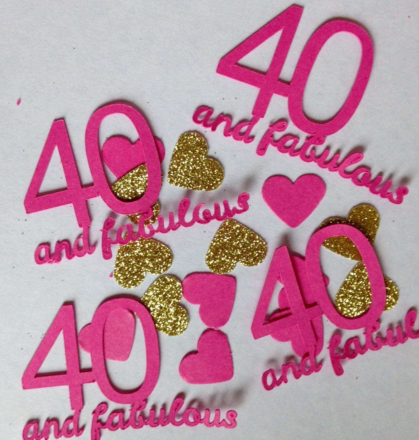 40 Fabulous Large Table Confetti 40th Birthday Party