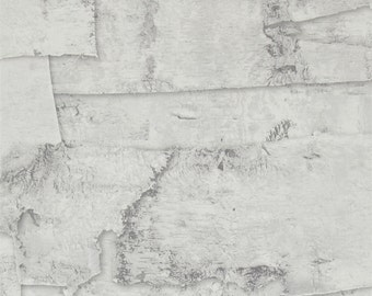 Faux Birch Bark Rustic Wallpaper