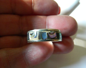 silver with Abalone ring