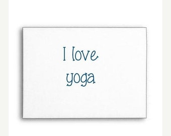 VALENTINE SALE I Love Yoga Stamp, Rubber Stamp, Custom Rubber Stamp, Wood Handle or Self Inking