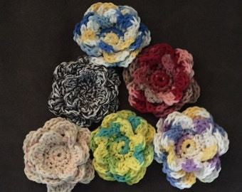 Frilly Dilly Flower Pins
